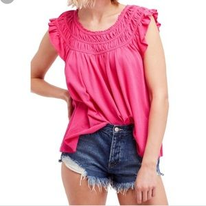 NWT We The Free Hot Pink coconut tee sz large